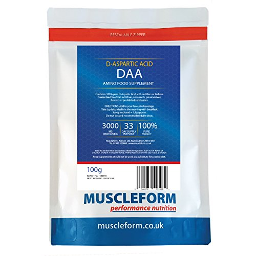 Muscleform D-Aspartic Acid 100g Re-sealable Pouch - Fast ...