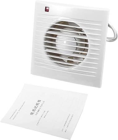 Rosebear - Aspirador de pared con ventilador de alta velocidad para baño, inodoro, cocina, ventana, garaje, ventilación, 220 V, 6: Amazon.es: Hogar