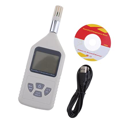 MagiDeal Temperatura de LCD Medidor de Humedad Digital Higrómetro Termómetro Punto De Rocío