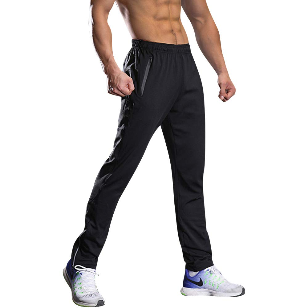 9990200df Amazon.com  BEEMEN Men s Jogger Pants Sweatpants Activewear Sports Running  Pants with Zipper Pockets (X-Large