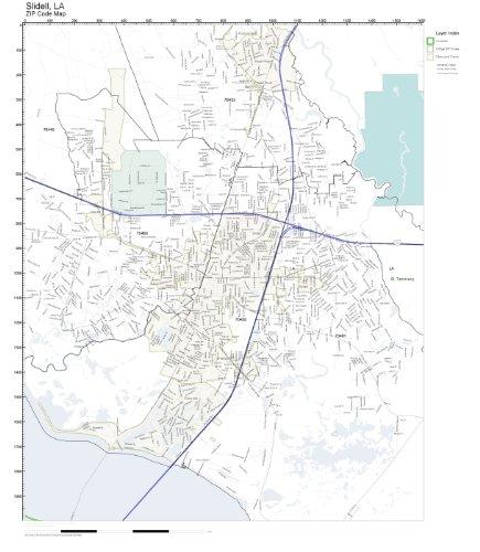 ZIP Code Wall Map of Slidell, LA ZIP Code Map (City Of Slidell)