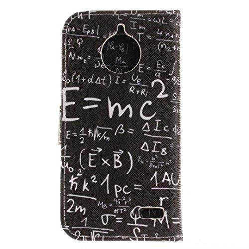 COWX MOTO E4 Hülle Kunstleder Tasche Flip im Bookstyle Klapphülle mit Weiche Silikon Handyhalter PU Lederhülle für Motorola Moto E4 Tasche Brieftasche Schutzhülle für Motorola Moto E4 schutzhülle S0Lr7o3