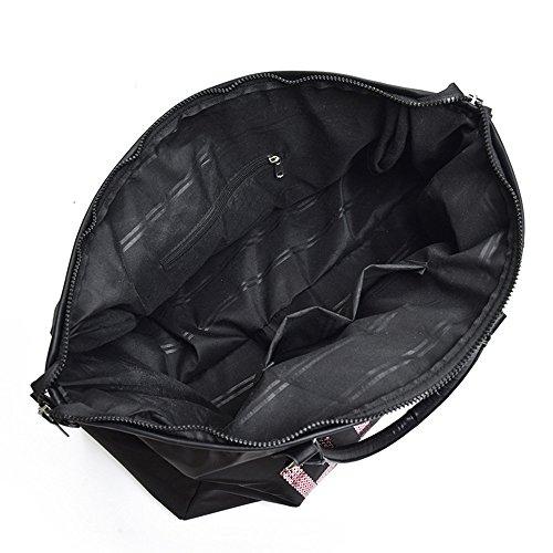 W Unisexe Noir Bandoulière Taille En One 26 H À Étanche Voyage De l La Oxford Tissu Noir Pouces Main Avec 11 Size 02 19 Épaule Sac 68 8 couleur 41xwS1