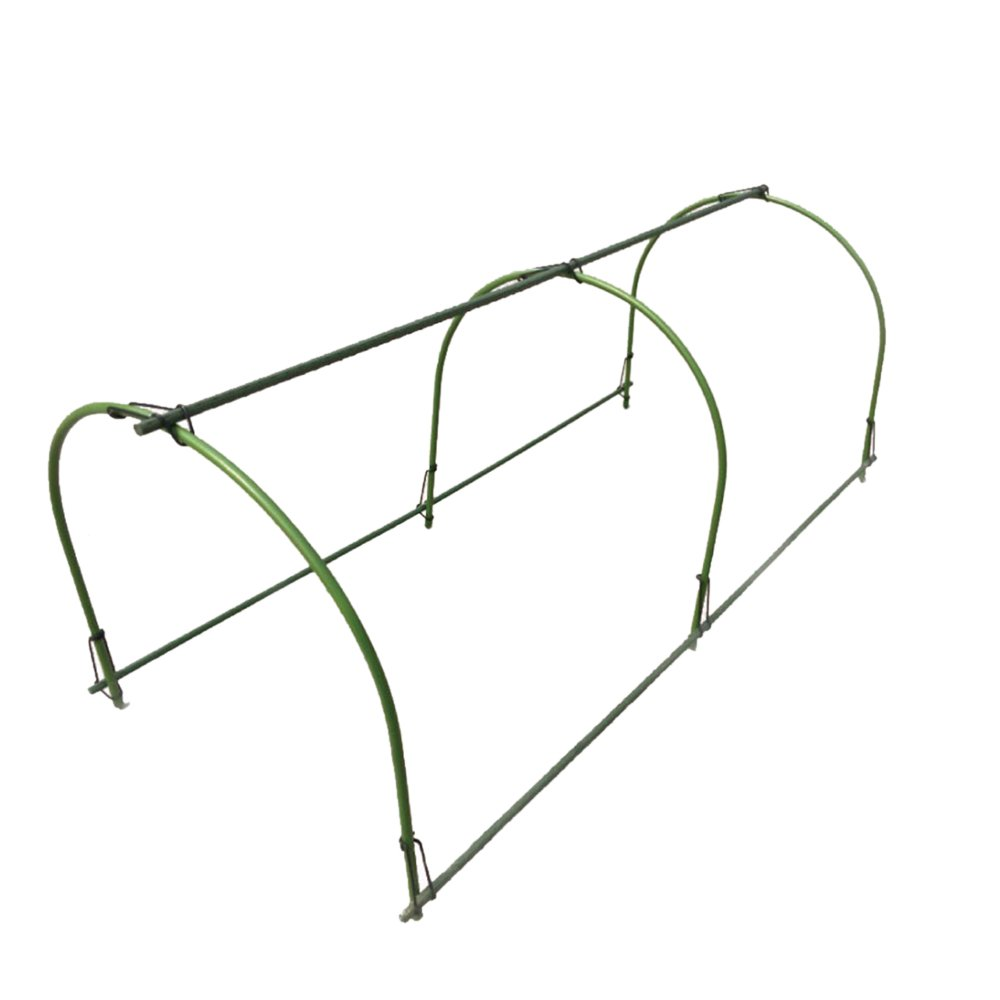 6Pcs 4FT Greenhouse Plant Grow Tunnel,Tunnel Kit with Long Steel Curved Hoops for Plants Protection and Growing