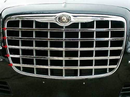 QAA FITS 300 2005 CHRYSLER (5 Pc: Stainless Steel Grille Accent Trim, 4-door) SG45760