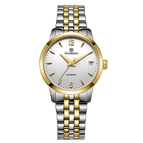 Gold Self Winding Bracelet - STARKING Classic Women's Automatic Self Winding Gold Two Tone AL0194 Sapphire Stainless Steel Watches Date 32mm