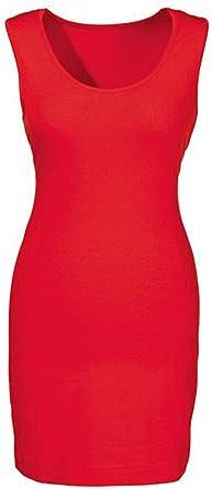 419e2f57d6a156 Esmara Damen Longtop Kleid Freizeittop Rot L 44/46: Amazon.de ...
