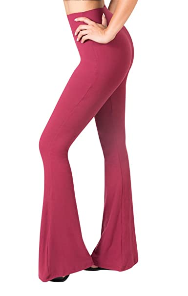 e68f7757f3ca SATINA High Waisted Flare Palazzo Wide Leg Pants