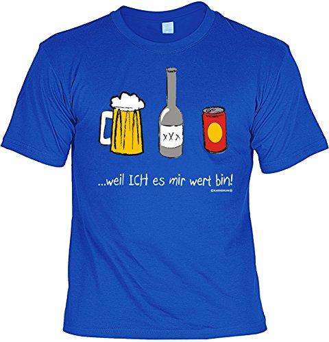 T-Shirt mit Urkunde - Weil ich es mir wert bin - lustiges Sprüche Shirt als Geschenk für Leute mit Humor - NEU mit gratis Zertifikat!
