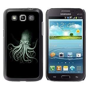Caucho caso de Shell duro de la cubierta de accesorios de protección BY RAYDREAMMM - Samsung Galaxy Win I8550 I8552 Grand Quattro - Octopus Kraken Sea Ocean Creature Legs Art