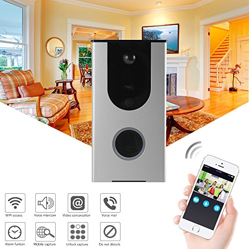 XCSOURCE 720P Wireless Smart Wifi Doorbell Wide Angle Camera Video Intercom Alarm PIR Motion Detection Anti-tamper Home Security Cloud Storage HS1004 by XCSOURCE