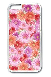 iPhone 5c Case, 5c Case - Crystal Clear Protective Hard Case for iPhone 5c Pink And Red Flowers Anti-Scratch Clear Hard Back Case for iPhone 5c