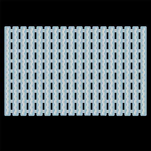 GHHQQZ バスルームのカーペット バスルームラグ ノンスリップ 疎水性 強力な吸着 スプライス PP フットパッド キッチン、 2色、 厚さ1 Cm 40x63cm (Color : A, Size : 40x63cm)