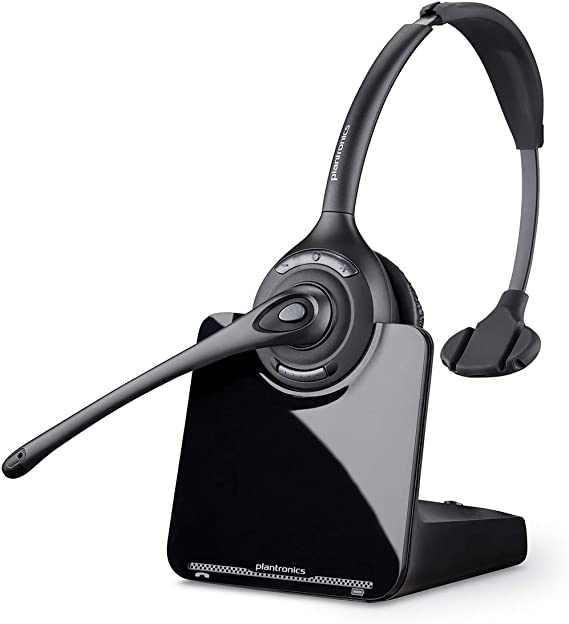 Amazon Com Plantronics Cs510 Over The Head Monaural Wireless Headset System Dect 6 0