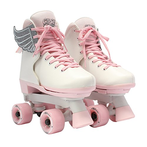 Circle Society Classic Adjustable Indoor and Outdoor Childrens Roller Skates - Classic Pink Vanilla