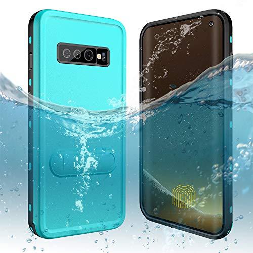 - Galaxy S10 Waterproof Case, DOOGE Shockproof Dirtproof Snowproof Rain Proof Heavy Duty Full Protection Rugged IP68 Certified Waterproof Case with Kickstand Screen Protector for Samsung Galaxy S10