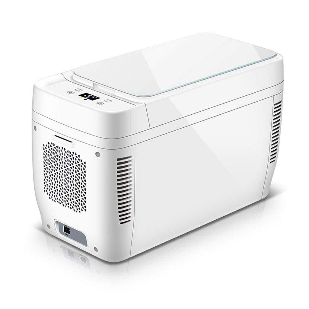 WSJTT 11L Mini Fridge with Freezer|Table Top Fridge for Bedrooms Temperature Control&Door Storage|Silent Dual-core Mini fridge Cooler and Warmer—White A+ Energy Rating Fridge Tall Larder Fridge