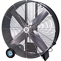 Strongway Open Motor Belt-Drive Drum Fan - 48in., 9/10 HP, 19,500 CFM