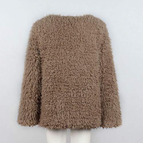 synthétique Donna chaud garder d'hiver fourrure Mode pour Veste Vicgrey au à d'hiver Longue Cardigan Kaki en femmes Automne capuche la section Manteau élégant qISpOwd