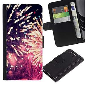 Supergiant (Fireworks 4'Th Independence Day July) Dibujo PU billetera de cuero Funda Case Caso de la piel de la bolsa protectora Para Sony Xperia Z3 Compact /D5803 / D5833