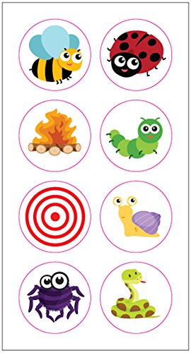 Toilet Potty Training Urinal Target Marker Sticker for Children Toddlers Boys (8 Stickers)