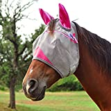 Cashel Designer Fly Mask with Ears, Hot Leaf Camo, or Coral ZigZag