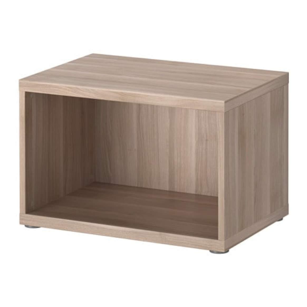 Amazoncom Ikea Besta Frame Walnut Effect Light Gray