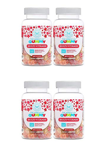 - The Honest Company Multi-Vitamin Gummy, 60 Count (4 Bottles)