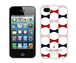Personalized Design With Kate Spade 68 White iPhone 4 4S Protective Cover Case