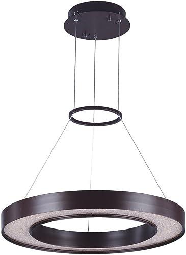 Maxim 35046CRYBZ Splendor Crystal Sand Floating Ring LED Pendant Ceiling Light, 1-Light 43.2 Watt, 3 H x 24 W, Bronze