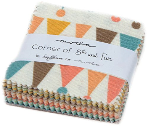 Corner Quilt Fabrics - Corner of 5th & Fun Mini Charm Pack by Sandy Gervais; 42-2.5