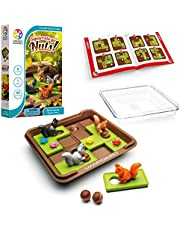 SmartGames Squirrels Go Nuts!, a Sliding Puzzle Travel Game for Kids and Adults, a Cognitive Skill-Building Brain Game - Brain Teaser for Ages 6 & Up, 60 Challenges in Travel-Friendly Case.