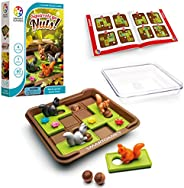 SmartGames Squirrels Go Nuts!, a Sliding Puzzle Travel Game for Kids and Adults, a Cognitive Skill-Building Brain Game - Bra