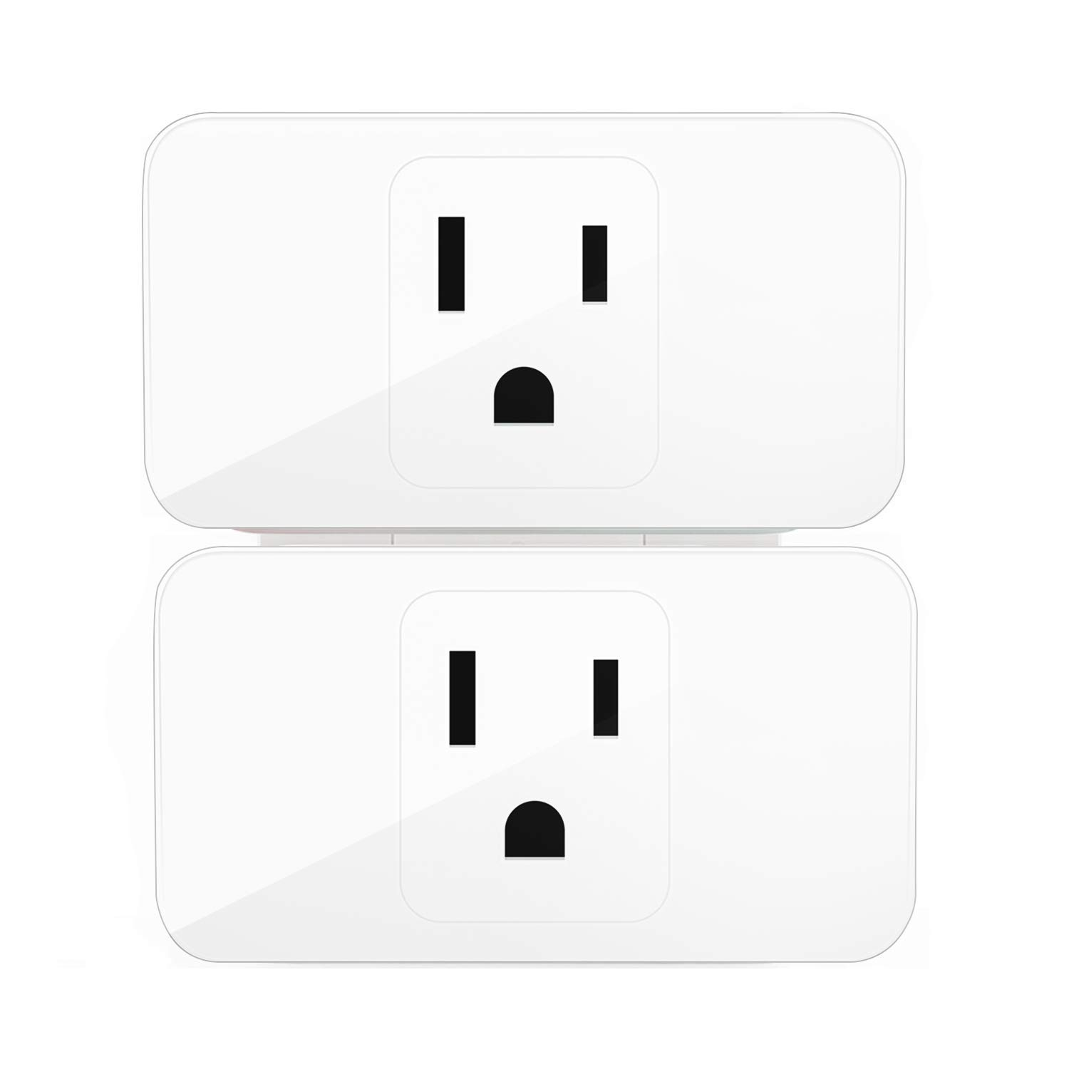 Meross Wifi Smart Plug, Wi-Fi Smart Socket Outlet Compatible with Alexa and Google Home, Control Your Lights, Appliances From Your Phone (2 pieces)