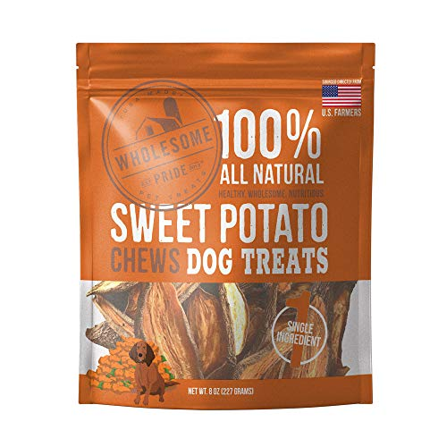 (Wholesome Pride Sweet Potato Chews - All Natural Healthy Dog Treats - Vegan, Gluten and Grain-Free Dog Snacks, 8 Ounce)