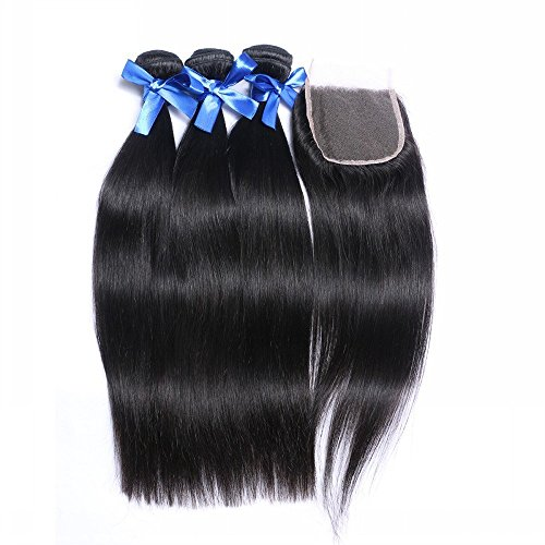 Human-Hair-Weft-Extensions-Dream-Beauty-Hair-3-Bundles-With-Closure-Brazilian-Virgin-Straight-Hair-Weave-8A-Grade-100-Unprocessed-Natural-Color