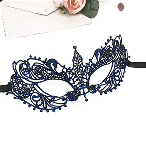 Halloween Girls Women Sexy Ball Lace Mask Catwoman Masquerade Dancing Party Eye Mask Cat Fancy Dress Costume Party Favor LM038E ()