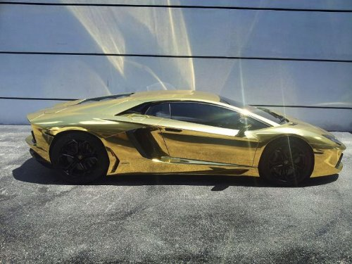 12X60 CATPIANO Chrome Mirror Gold Vinyl Wrap Sticker Decal Film Sheet