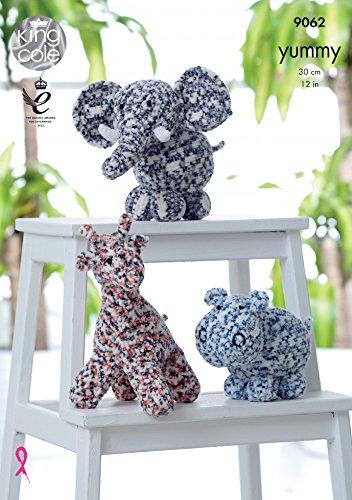Amazon King Cole Giraffe Hippo Elephant Cuddly Toys Knitting