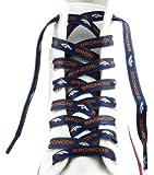 """Denver Broncos Team Logo Colors 54"""" Shoe Laces One Pair Lace Ups NFL"""