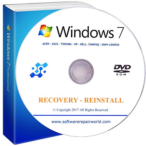 (Windows 7 All-in-One All Versions 32/64-Bit Install Boot Recovery Restore DVD DISC Perfect for Install or Reinstall of Windows)