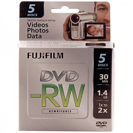 Fujifilm 25302425 1.4GB Mini DVD-RW for Camcorder (5pk)