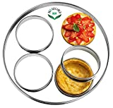NewlineNY Stainless Steel 5 Pcs Circular Tart Rings, Molding, Plating, Set of 5 : 1 x (28cm 11'') + 4 x (10cm 4'') x (2.2cm 1'' H)