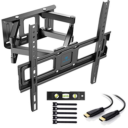 "Soporte de TV Pared Articulado Inclinable Y Giratorio – Soporte De TV para Pantallas De 32-55"" TV – MAX VESA 400x400mm, para Soportar 45kg, Cable HDMI Y Nivel De Burbuja Incluidos"
