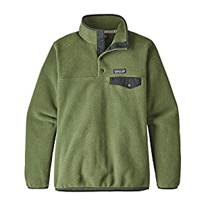 Patagonia Womens Lightweight Synchilla Snap-T Fleece Pullover (Large, Buffalo Green)