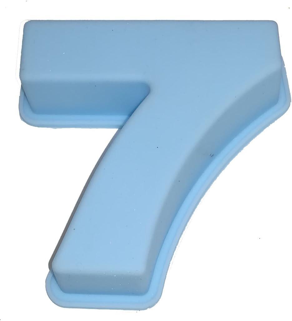 Reichstein /& Kaufmann Moule /à g/âteau en silicone en forme de chiffre pour anniversaire Silicone bleu clair
