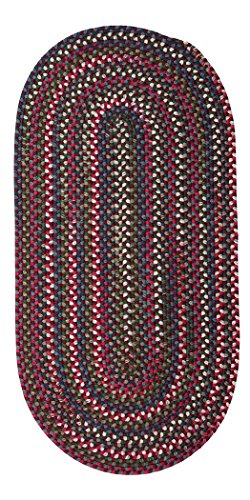 Chestnut Knoll Oval Area Rug, 2 by 10-Feet, Amber Rose