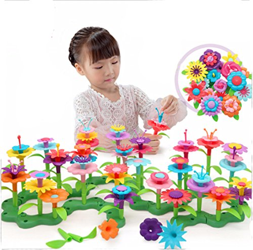 Build-a-Bouquet Floral Arrangement Playset - BPA Free, Phthalates Free, Creative Play Toys for Gross Motors, Fine Motor Skill Development. Toys and Games
