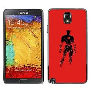 Shell-Star Art & Design plastique dur Coque de protection rigide pour Cas Case pour SAMSUNG Galaxy Note 3 III / N9000 / N9005 ( Superhero Costume Red Powerful Fire Black )