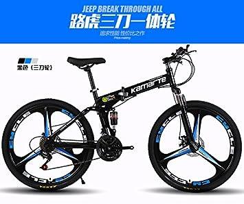 """El acolchado plegable para bicicleta de montaña marco de acero de alto carbono, 26 """""""